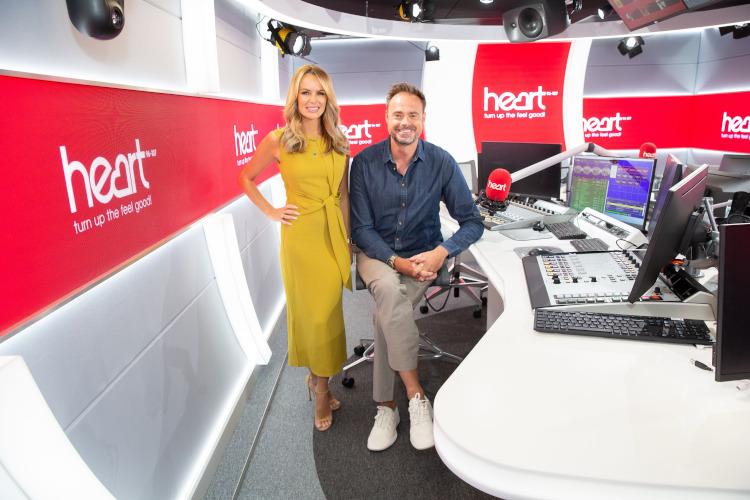 Jamie Theakston and Amanda Holden launch new Heart breakfast show